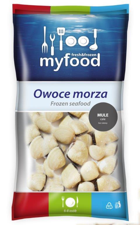 OM40007 MyFood Mule całe bez zalewy IQF 1 kg